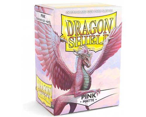 Sleeves: Dragon Shield - Standard, Matte Pink (x100)