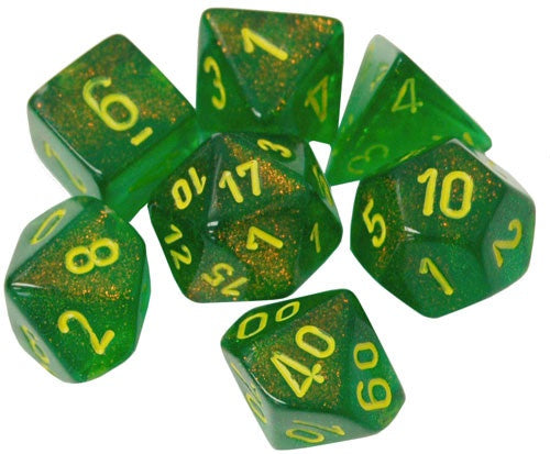Dice CHX: Menagerie Borealis Maple Green/Yellow (Poly)