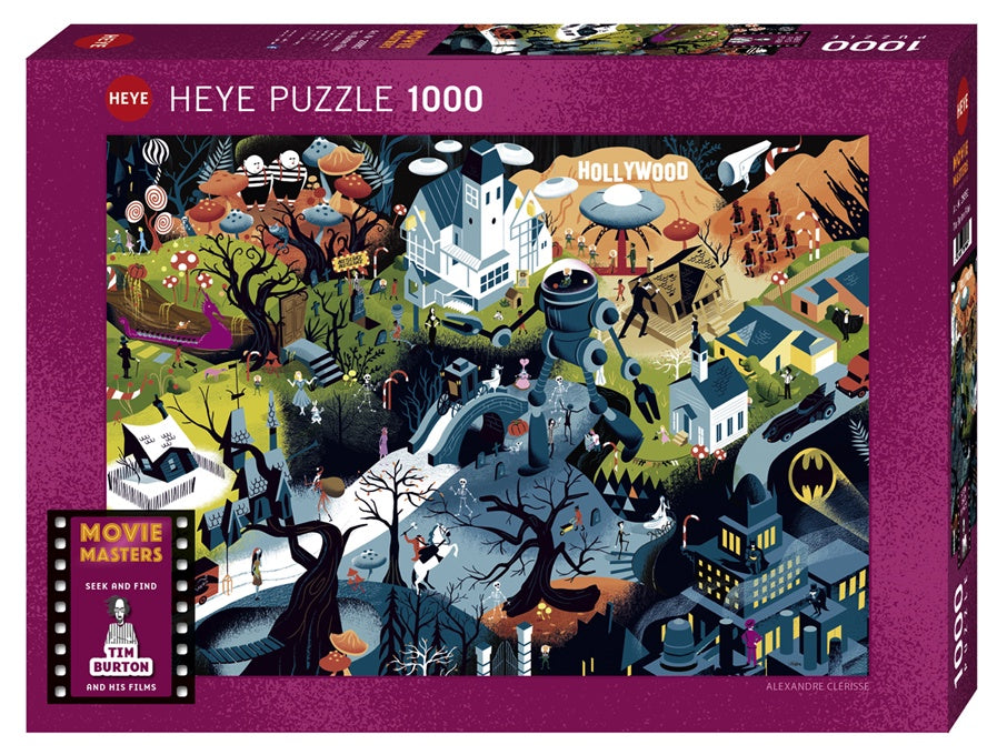 Puzzle HY: Tim Burton Films (1000 Pieces)