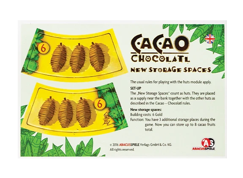 Cacao - New Storage Places