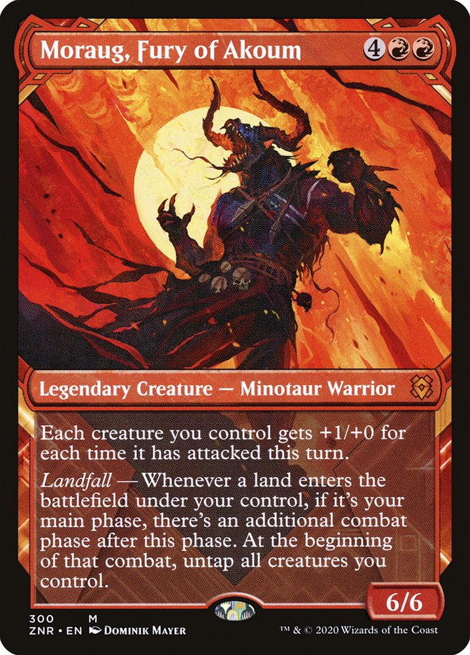 Moraug, Fury of Akoum (Showcase) [Zendikar Rising]