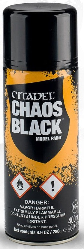 Citadel: Spray Primers, Chaos Black