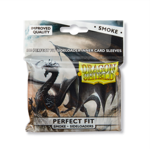 Sleeves: Dragon Shield - Perfect Fit Standard - Sideloaders - Smoke (x100)