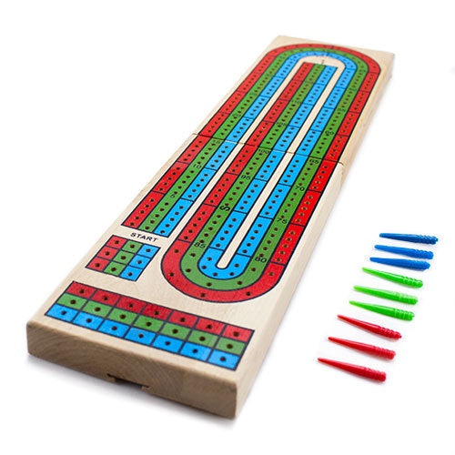 Playing Cards: Brybelly - Cribbage Board, 3-Track Wooden