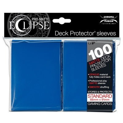 Sleeves: Ultra PRO - Standard - PRO-Matte Eclipse, Pacific Blue (x100)