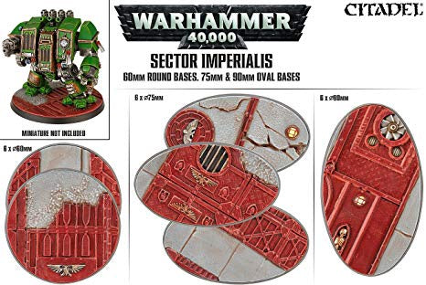 Warhammer 40k: Sector Imperialis - 60mm Round & 75/90mm Oval Bases