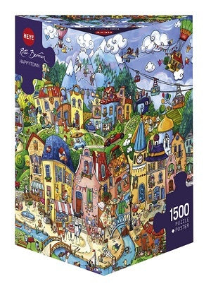 Puzzle HY: Berman - Happytown (1500 pcs)
