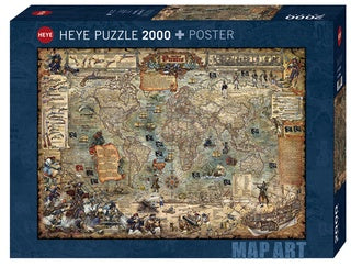 Puzzle HY: Map Art - Pirate World (2000 pcs)