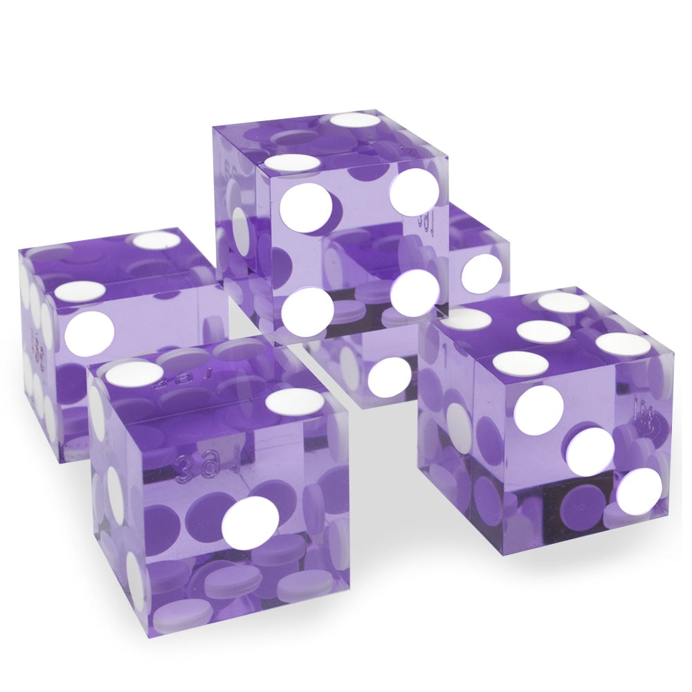 Dice: Wiz Dice - 19mm D6, Precision Dice Singles , Violet