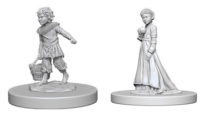 Pathfinder RPG Minis: Deep Cuts Unpainted - Children (x2)