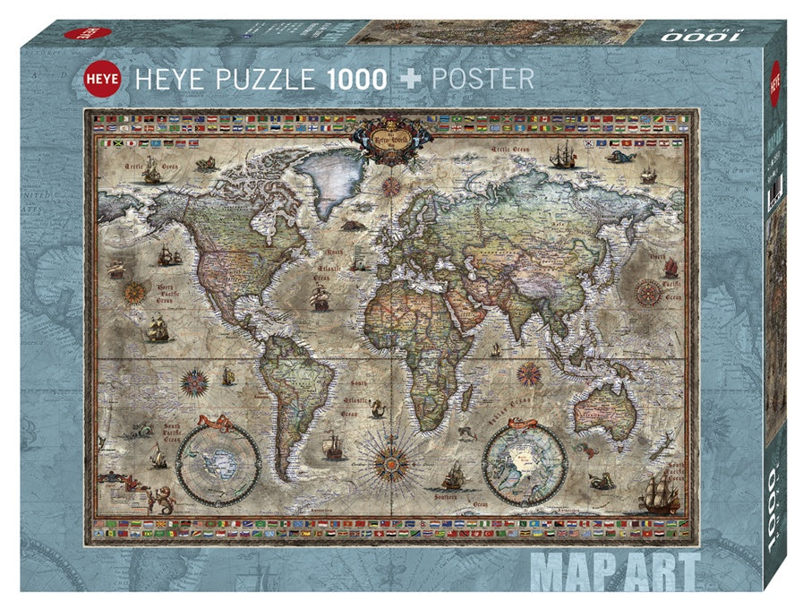 Puzzle HY: Retro World (1000 Pieces)