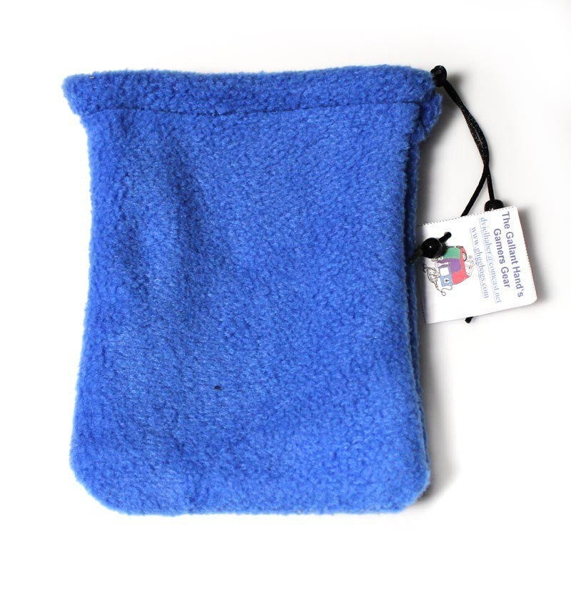 Dice Bag: Gallant Hand - Fleece - Two Pockets, Blue