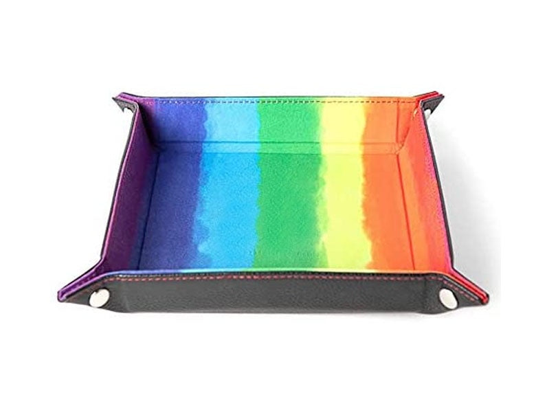 Dice Tray: MET Games - Velvet Folding, Rainbow [10x10] (لوازم لعبة لوحية)