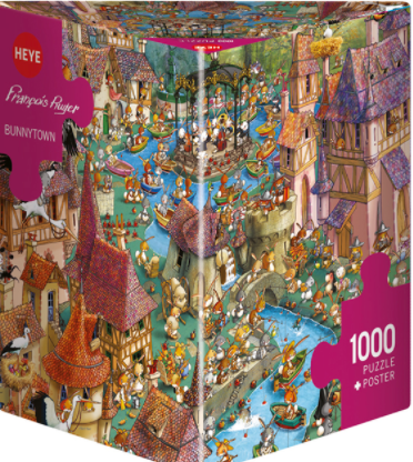 Puzzle HY: Ruyer - Bunnytown (1000 pcs)