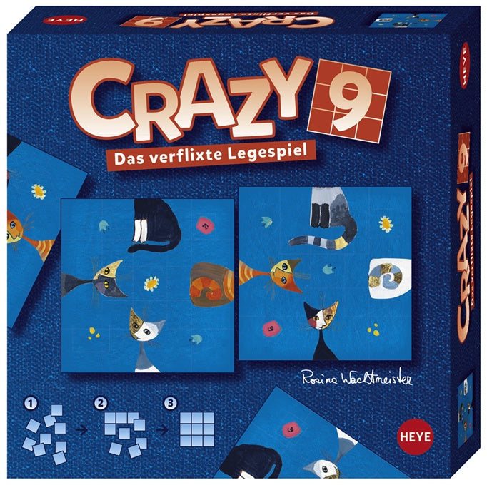 Puzzle HY - Crazy 9: Wachtmeister Cats