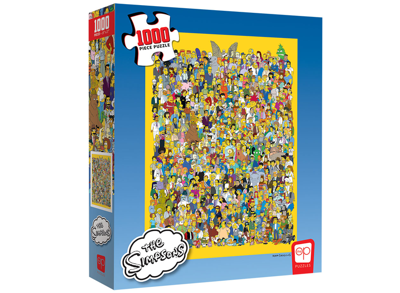 Jigsaw Puzzle: The OP - The Simpsons - Cast of Thousands (1000 Pieces)
