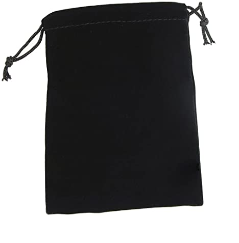 "Dice Bag: Brybelly - Velour Pouch with Drawstring, Black (7x 5"")"
