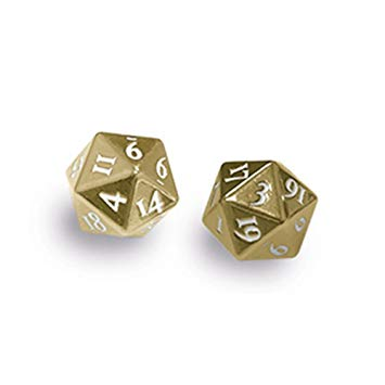 Dice UP: Heavy Metal D20 Dice Set - Gun Metal (x2)
