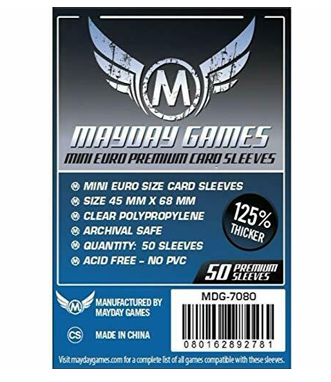 Sleeves: Mayday - Euro Mini Premium (68 x 45 mm) (x50)