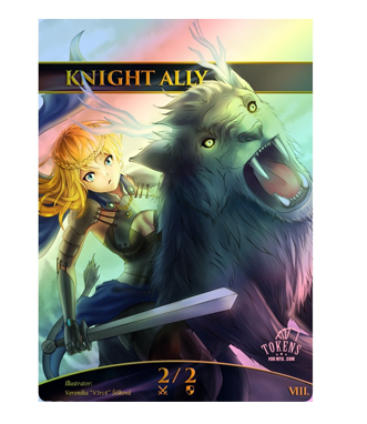 MTG Tokens: Knight Ally