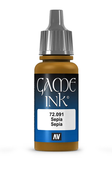 Vallejo Paints: Game Color - Sepia Ink (17ml)