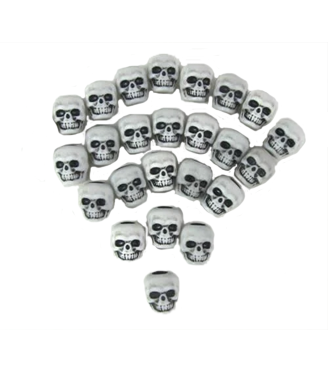 Accessories Board Games: MET Games -Skull Counters, White (x25)