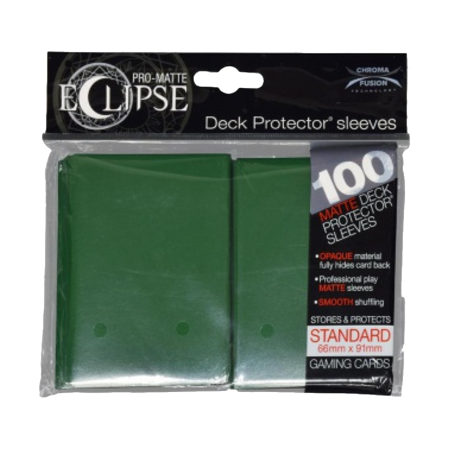 Sleeves: Ultra PRO - Standard - PRO-Matte Eclipse, Forest Green [x100] (لوازم لعبة لوحية)