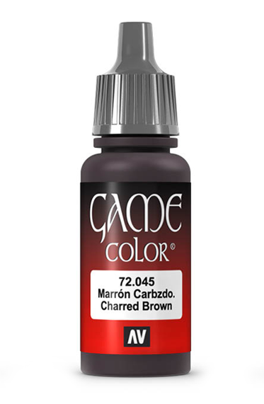Vallejo Paints: Game Color - Charred Brown (17ml)