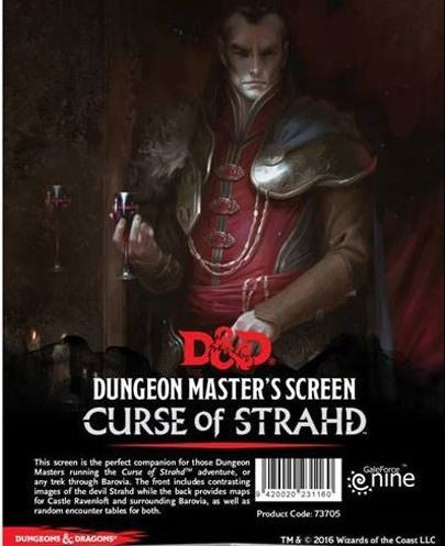 D&D RPG: Curse of Strahd - DM Screen