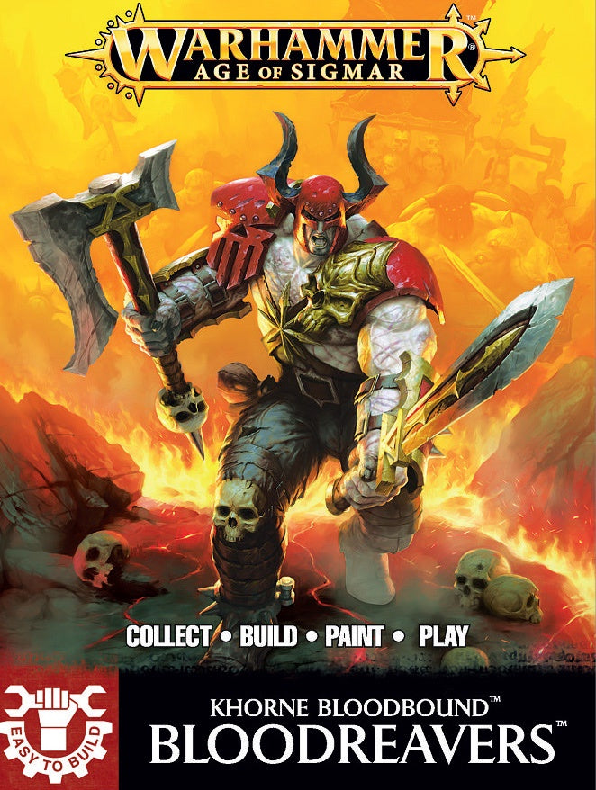 Warhammer Age of Sigmar: Khorne Bloodbound Bloodreavers (Easy to Build)
