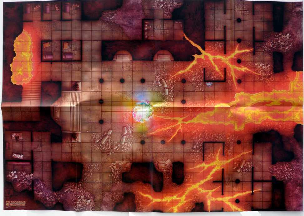 Game Mat D&D RPG: Temple of Fire