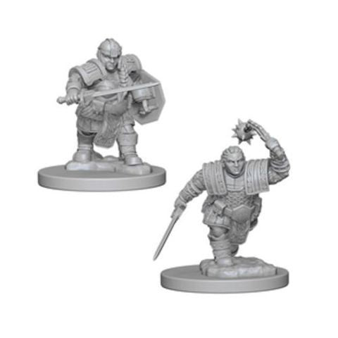 D&D RPG Minis: Nolzur Unpainted - Dwarf Female Fighter (x2)