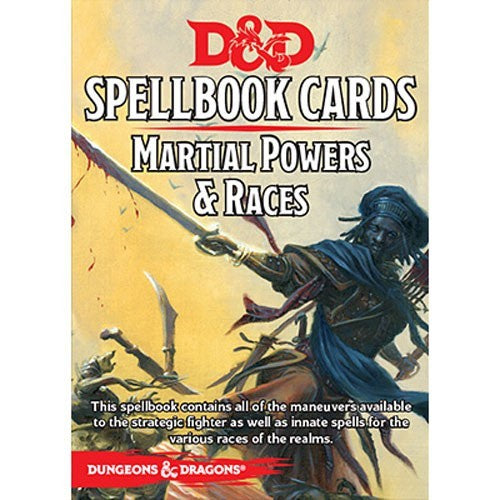 D&D RPG: Spellbook Cards - Martial Powers & Races
