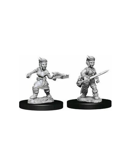 Pathfinder RPG Minis: Deep Cuts Unpainted - Female Halfling Rogue (x2)
