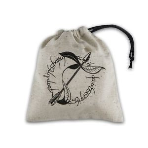 Dice Bag: Q Workshop - Elvish Pouch, Beige/Black