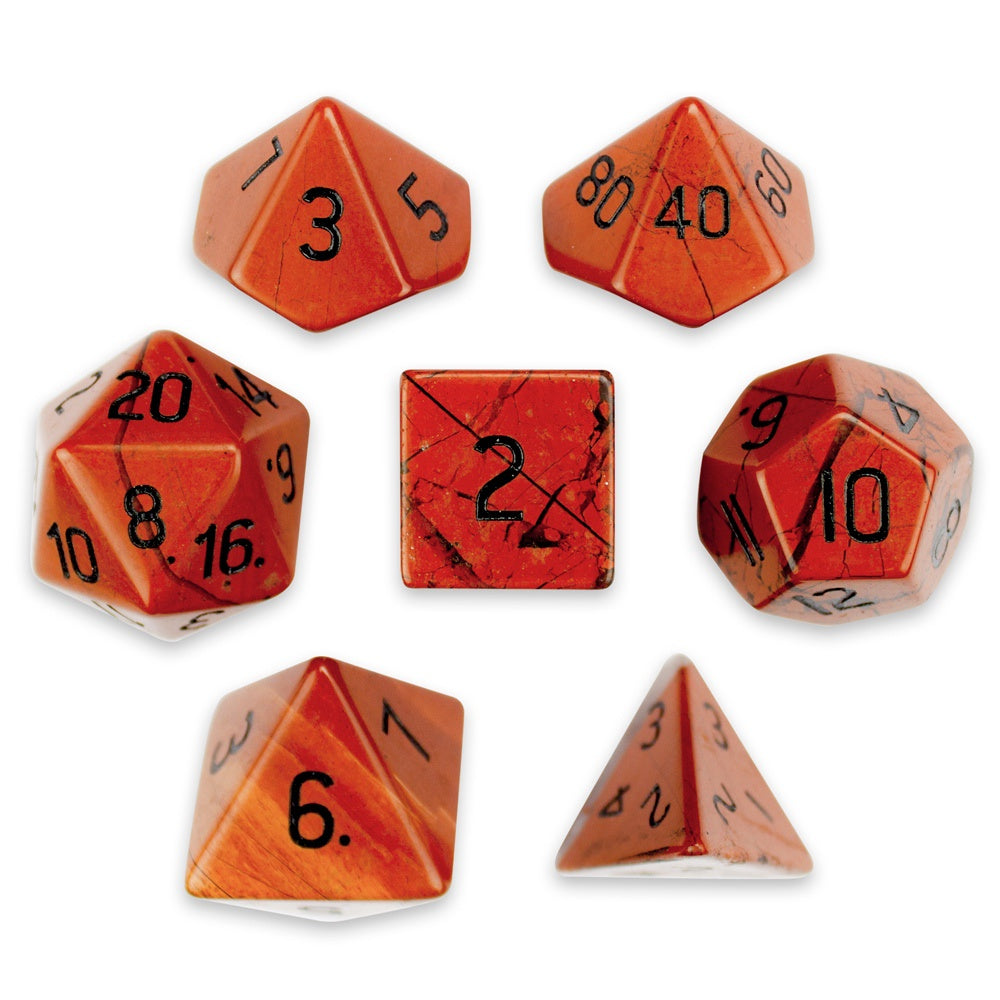Dice WD: Handmade Stone (Poly) - Red Jasper