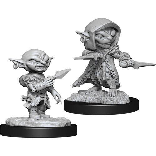 Pathfinder RPG: Deep Cuts Unpainted Minis - Goblin Rogue Male [x2] (لوازم للعبة تبادل الأدوار)