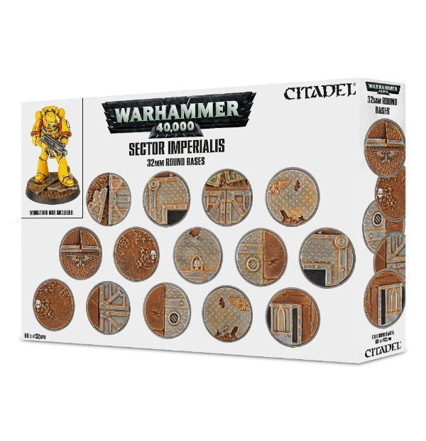 Warhammer 40k: Sector Imperialis - 32mm Round Bases