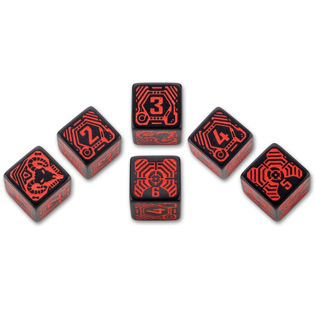 Shadowrun (5th Ed.) RPG: D6 Dice - Street Samurai (x6)