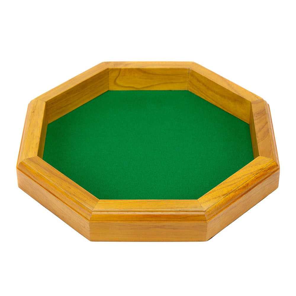 "Dice Tray: Wiz Dice - Wooden, Octagonal (12"")"