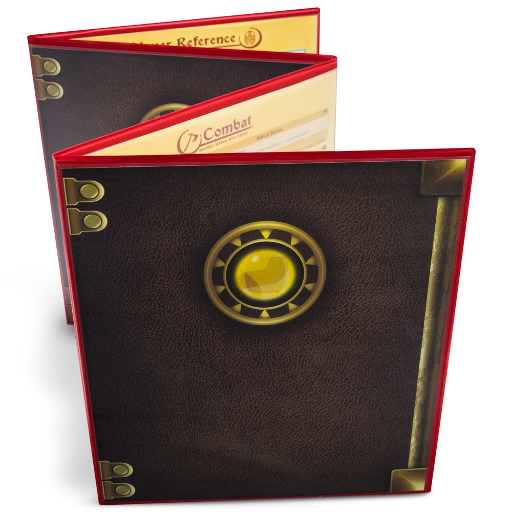 Brybelly - The Master's Tome Customizable DM Screen, Red