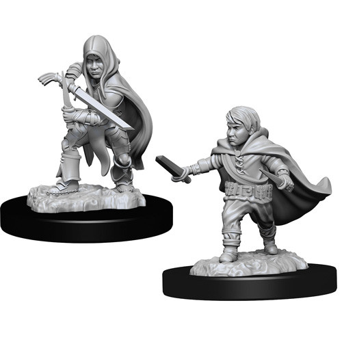D&D RPG: Nolzur Unpainted Minis - Halfling Rogue Male [x2] (لوازم للعبة تبادل الأدوار)