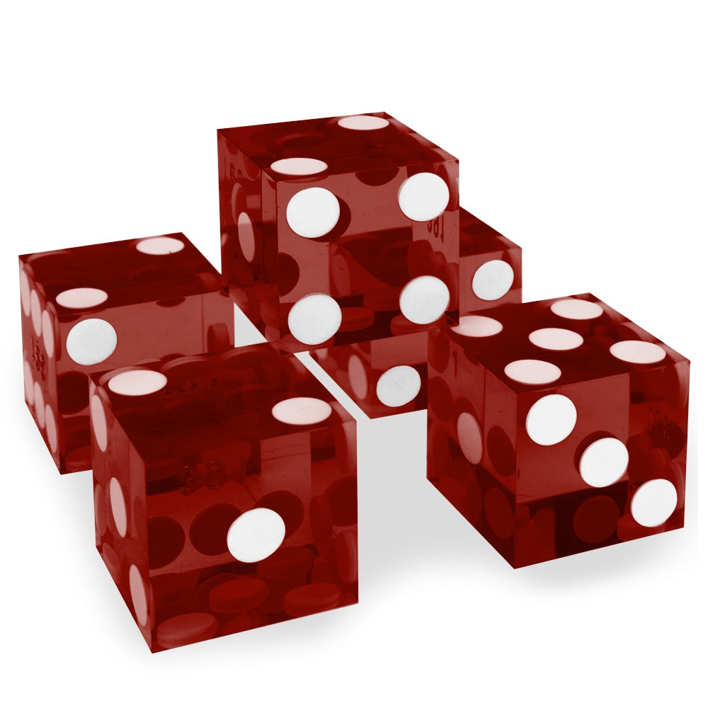 Precision Dice: Red - Singles (19mm)