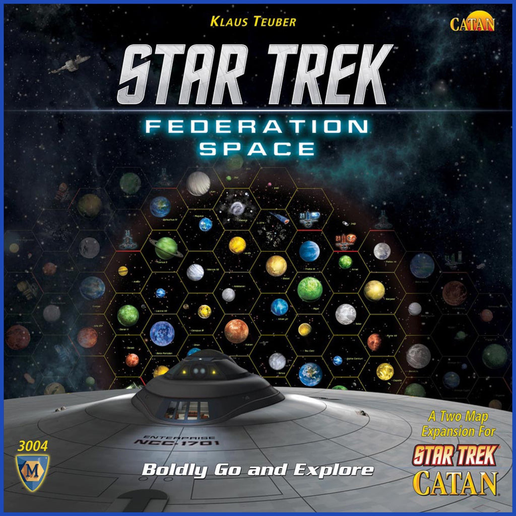 Star Trek Catan - Federation Space Map