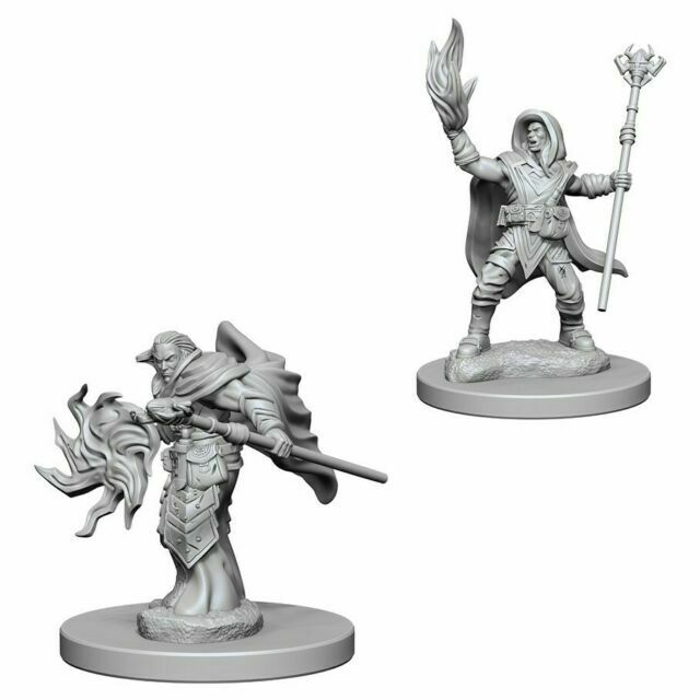 D&D RPG: Nolzur Unpainted Minis - Elf Wizard Male [x2] (لوازم للعبة تبادل الأدوار)