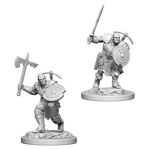 D&D RPG: Nolzur Unpainted Minis - Earth Genasi Male Fighter (x2)