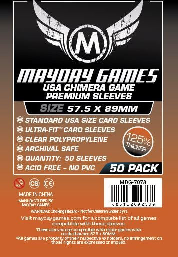 Sleeves: Mayday - USA Chimera Standard Premium [89 x 57.5 mm] [x50] (لوازم لعبة لوحية)