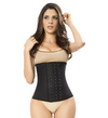 Latex Waist Cincher Waist Trainer Trimmer Long Torso With 3 Hook Rows
