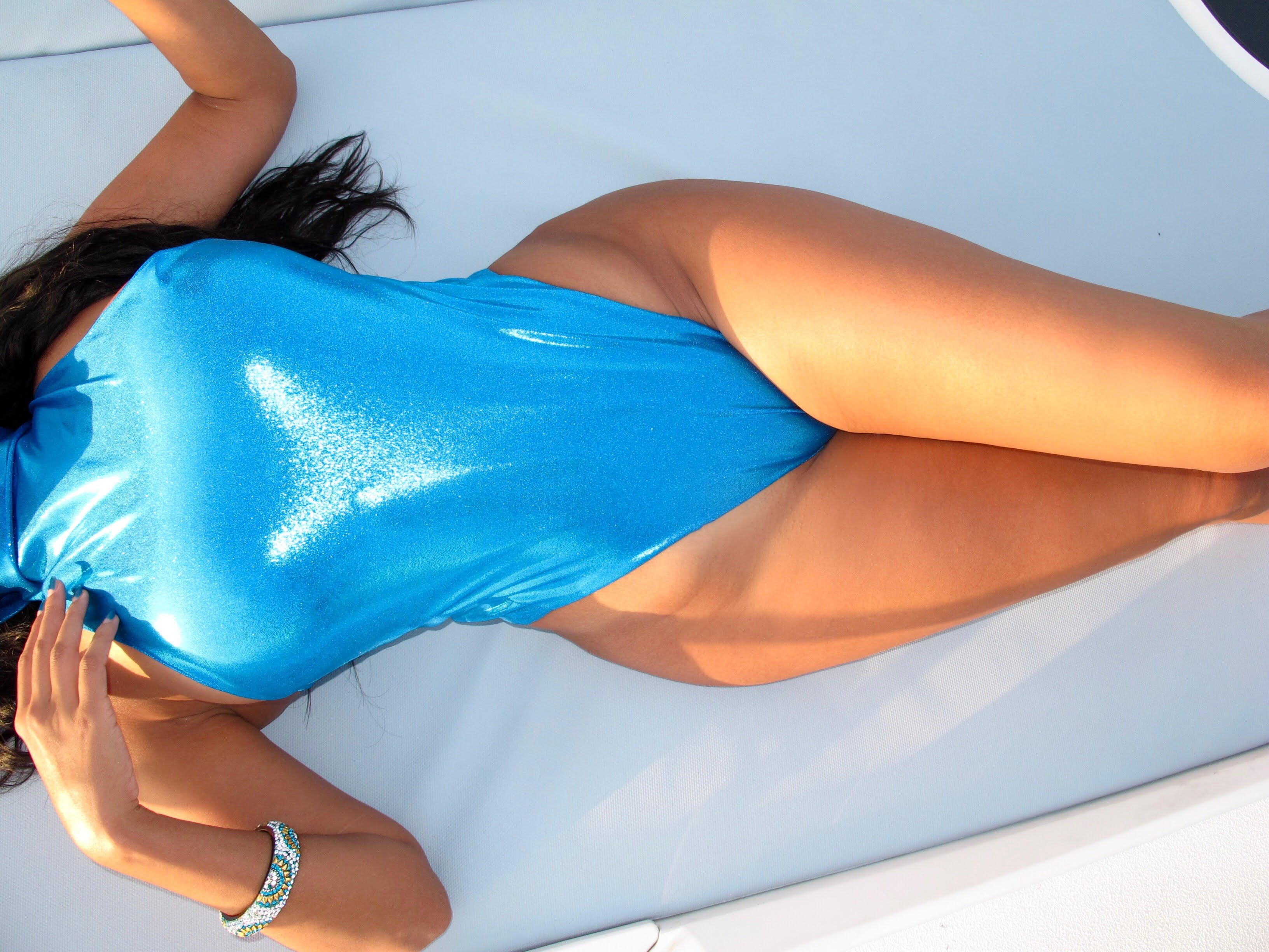 BLUE METALLIC ONE PIECE