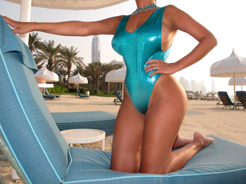 TEAL METALLIC ONE PIECE